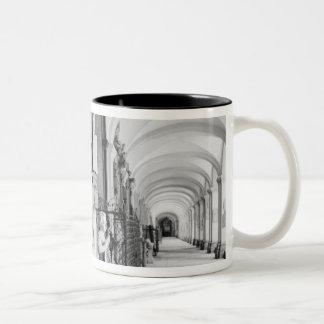 Europe, Austria, Salzburg. Cherub and monument Two-Tone Coffee Mug