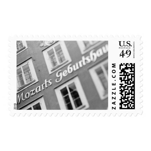 Europe, Austria, Salzburg. Mozart's Birthplace 2 Stamps