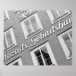Europe, Austria, Salzburg. Mozart's Birthplace Poster