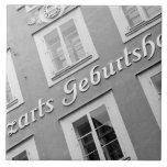 Europe, Austria, Salzburg. Mozart's Birthplace Ceramic Tiles