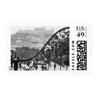 Europe, Austria, Salzburg. View of the Old City Postage