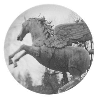 Europe, Austria, Salzburg. Winged horse statue, 2 Plate