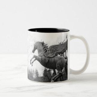 Europe, Austria, Salzburg. Winged horse statue, 2 Two-Tone Coffee Mug