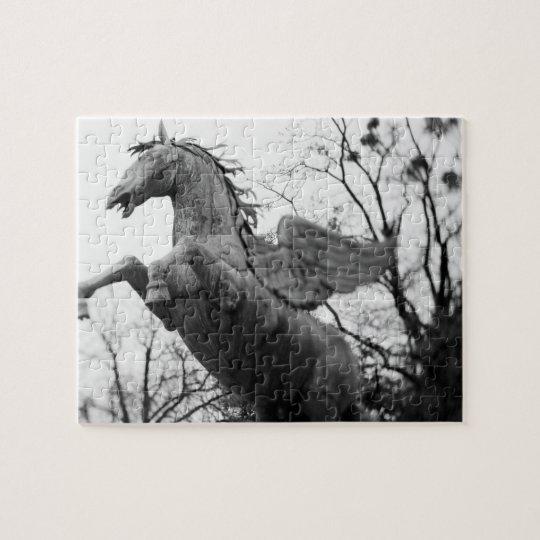 Europe, Austria, Salzburg. Winged horse statue, Jigsaw Puzzle