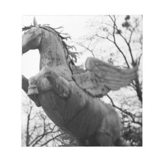 Europe, Austria, Salzburg. Winged horse statue, Notepad