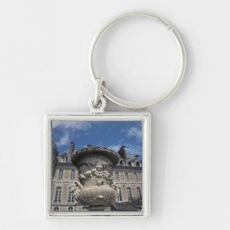 EUROPE, Belgium, Beloeil Castle Silver-Colored Square Keychain