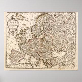 Europe Buache Phillip 1769 Reproduction Posters