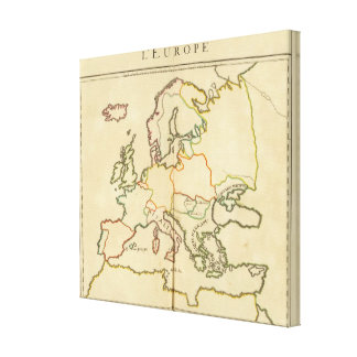 Europe by Religion 2 Canvas Print