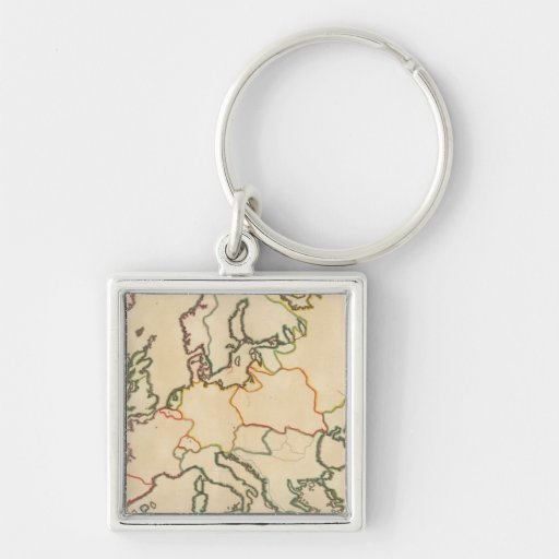 Europe by Religion 3 Keychain
