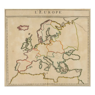 Europe by Religion 3 Poster