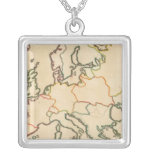 Europe by Religion 3 Square Pendant Necklace