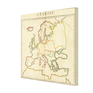 Europe by Religion 3 Stretched Canvas Prints