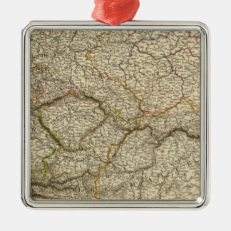 Europe, Centra lAustria, Germany Square Metal Christmas Ornament