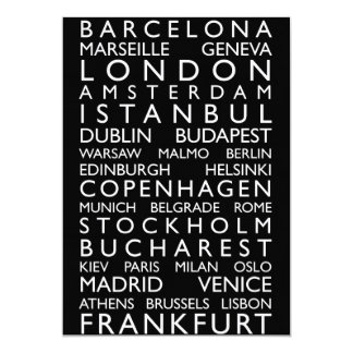 Europe Cities Bus Roll Card