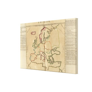 Europe Climate Canvas Print