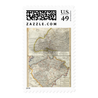 Europe Climate Map Postage Stamps
