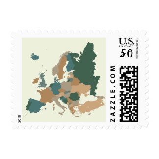 Map Of Europe Postage Zazzle - World map uncolored