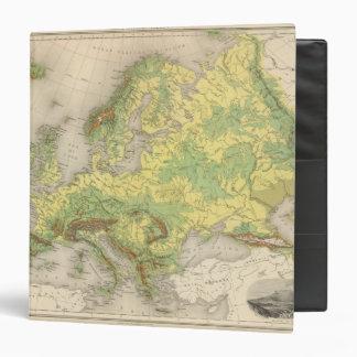 Europe contour map binder