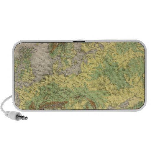 Europe contour map mini speaker