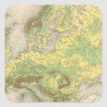 Europe contour map stickers