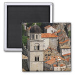 Europe, Croatia. Medieval walled city of 2 Inch Square Magnet