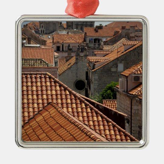 Europe, Croatia. Medieval walled city of 2 Metal Ornament