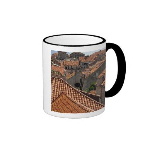 Europe, Croatia. Medieval walled city of 2 Coffee Mug