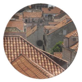 Europe, Croatia. Medieval walled city of 2 Dinner Plate