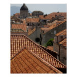 Europe, Croatia. Medieval walled city of 2 Poster