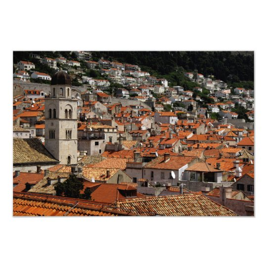 Europe, Croatia. Medieval walled city of Photo Print