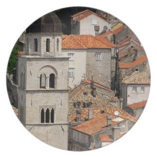 Europe, Croatia. Medieval walled city of Party Plate