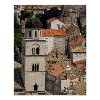 Europe, Croatia. Medieval walled city of Poster