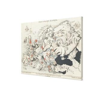 Europe', de hoy 1887 impresión en lona estirada