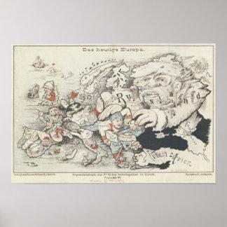 Europe', de hoy 1887 póster