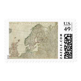 Europe divided into its empires, kingdoms postage stamp