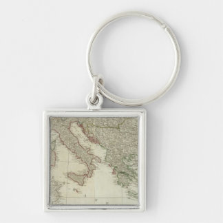 Europe divided into its kingdoms,  empires key chain