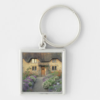 Europe, England, Chippenham. Early morning light Silver-Colored Square Keychain