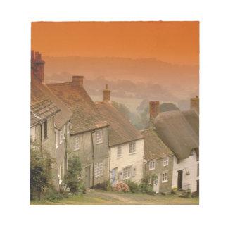 Europe, England, Dorset, Shaftesbury. Gold hill Memo Pads