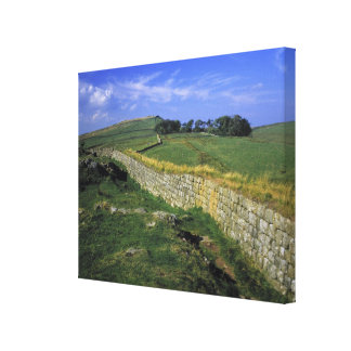 Europe, England, Hadrian's Wall. The stones of Canvas Print