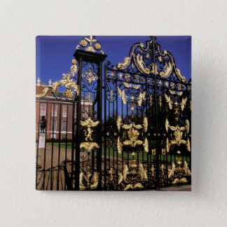 Europe, England, London. Gilded gate outside of 2 Pinback Button