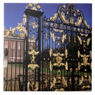 Europe, England, London. Gilded gate outside of 2 Ceramic Tiles