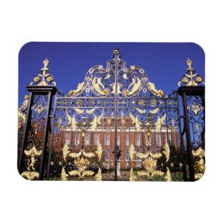 Europe, England, London. Gilded gate outside of Magnet