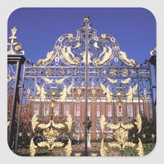 Europe, England, London. Gilded gate outside of Square Sticker