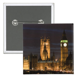 Europe, ENGLAND, London: Houses of Parliament / 2 Pinback Button