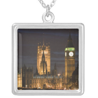 Europe, ENGLAND, London: Houses of Parliament / 2 Silver Plated Necklace