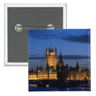 Europe, ENGLAND, London: Houses of Parliament / Pinback Button