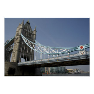 Europe, England, London. Tower Bridge over the 2 Poster