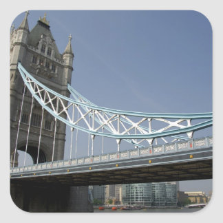 Europe, England, London. Tower Bridge over the 2 Square Sticker