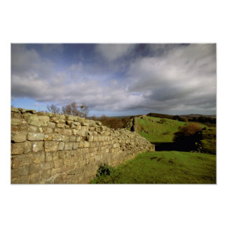 Europe, England, Northumberland. Hadrian's Poster