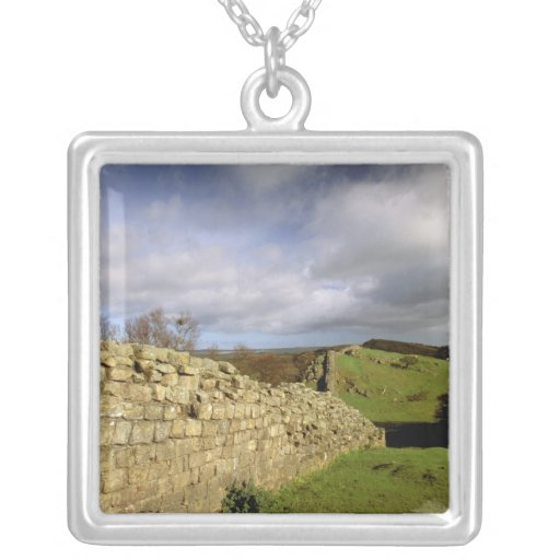Europe, England, Northumberland. Hadrian's Square Pendant Necklace
